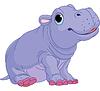 Cartoon Baby-Flusspferd-Junge