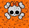 ID 3828458 | Nette Halloween-Schädel mit Bogen | Stock Vektorgrafik | CLIPARTO