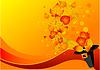 Herbstlaub und Pilgerhut