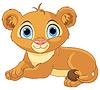 Ruhen kleinen Löwenbaby