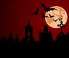 Halloween-Nacht in der Stadt