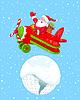 Sankt Fliegen Seine Weihnachten Flugzeug