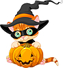 Cute Halloween Kitten | Stock Vector Graphics