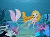 Meerjungfrau und Delphin Hintergrund
