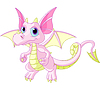 Cartoon Baby-Drachen