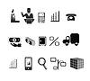 Symbole auf dem Thema der Produktion