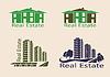 Immobilien logo, Symbole.