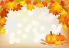 Herbst Kürbis Feiertagspostkarte