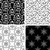 Nahtlose schwarzen und weißen dekorativen Muster