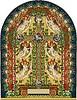 Векторный клипарт: старинная иллюстрация из евангелия с ангелами и крестом