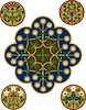 Set von floralen Ornamenten | Stock Vektrografik
