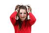 Disheveled przerażona dziewczyna dziecko | Stock Foto