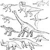 Set von verschiedenen Dinosauriern