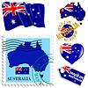 nationalen Farben von Australien