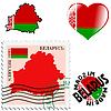 nationalen Farben von Belarus