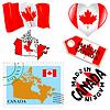 ID 3906329 | Nationalen Farben von Kanada | Stock Vektorgrafik | CLIPARTO