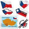nationalen Farben in der Tschechischen Republik