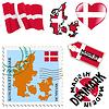 nationalen Farben von Dänemark