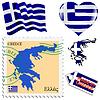 nationalen Farben von Griechenland