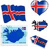 nationalen Farben von Island
