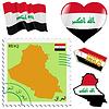 nationalen Farben des Irak