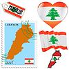 nationalen Farben des Libanon