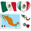 nationalen Farben von Mexiko