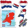 nationalen Farben der Niederlande