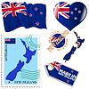 nationalen Farben von Neuseeland