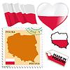 nationalen Farben von Polen