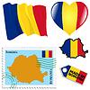 nationalen Farben von Rumänien