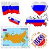 nationalen Farben von Russland