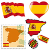 nationalen Farben von Spanien