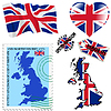 nationalen Farben des Vereinigten Königreichs