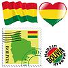 nationalen Farben von Bolivien