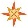태양과 Kolovrat | Stock Vector Graphics