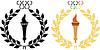 Olympischen Symbole