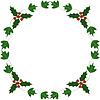 홀리와 아이비 성탄절 프레임 | Stock Vector Graphics