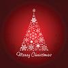 Weihnachtsbaum von Schneeflocken