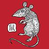 Ratte. Chinese Zodiac. Tiere Sternzeichen | Stock Vektrografik