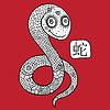 Chinese Zodiac. Tier astrologischen Zeichen. Schlange