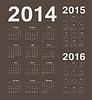 Russische 2014, 2015, 2016 Jahre Kalender