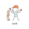 Векторный клипарт: строитель