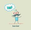Bankier denkt über Geld
