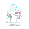 Venerologie spricht mit Patienten