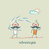 ID 3973059 | Reflexologist arbeitet mit Patienten mit Nadeln | Stock Vektorgrafik | CLIPARTO