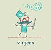 Chirurg mit Skalpell