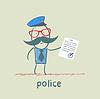 Polizei zeigt Dokument
