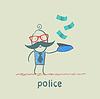 Polizei sammeln Geld, fallen