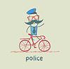 Polizei Fahrrad fahren